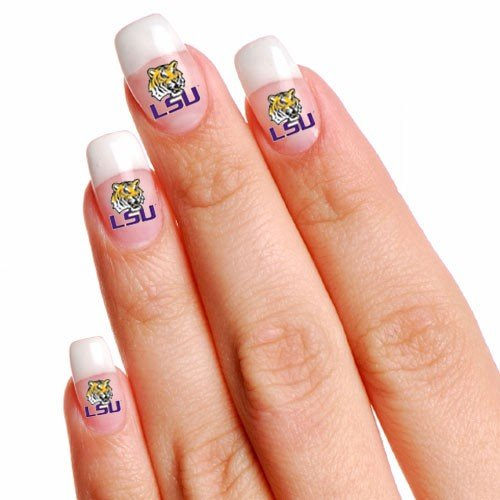 NCAA LSU Tigers 4-Pack Temporary Nail Tattoos at Amazon.com