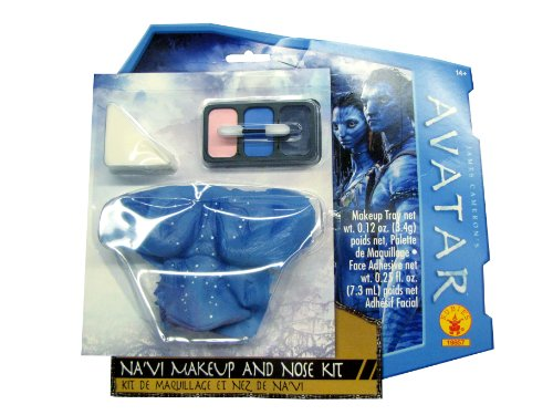 Avatar Navi Makeup And Nose Kit, Blue, One Size - 1