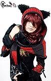 Bonnet écharpe noire