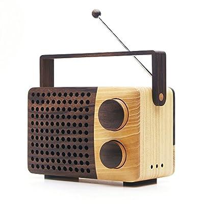 magno IKoNO++/イコノ ツープラス(AM・FMラジオ、AUX-in, out)【iPodとつなぎ、スピーカーとしても使える木のラジオ】