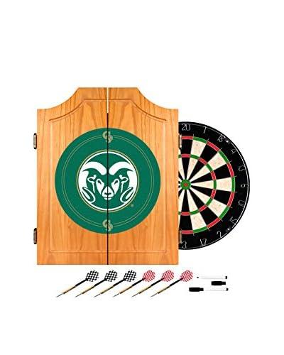 Trademark Global Colorado State University Dart Cabinet with Darts & Board