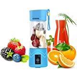 KUWAN Mini Rechargeable Portable Electric Fruit Juicer Cup Personal Sports Juice Blender 13 Ounce with USB Charging Cable