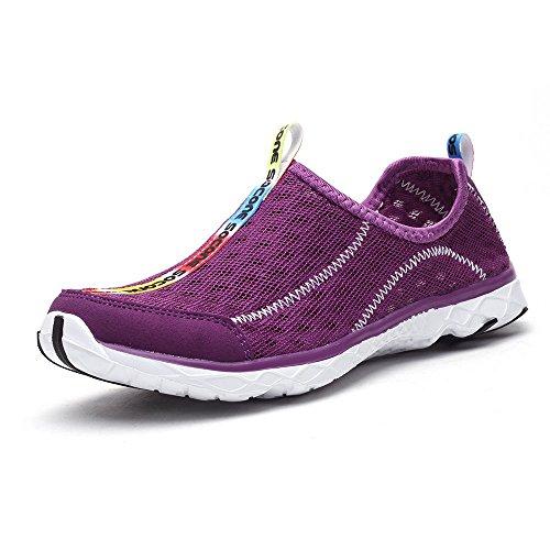 Aleader Women's Mesh Slip On Water Shoes Purple 6.5 D(M) US