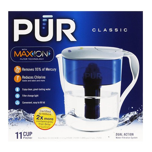 PUR Water Filter Pitcher Classic, 11 Cup (Pur Water Pitcher 11 Cup compare prices)