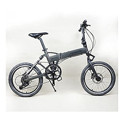 AKSSWEET 20 Inch Luxury Alloy Folding Bike City Bicycle with 9 speed Unisex