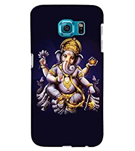 Printvisa Lord Ganesha In A Plain Background. Back Case Cover for Samsung Galaxy S6 Edge::Samsung Galaxy Edge G925