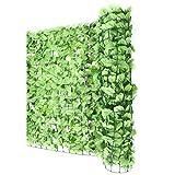 Sichtschutz Windschutz Verkleidung für Balkon Terrasse Zaun ~ Blatt hell 300 x 150 cm