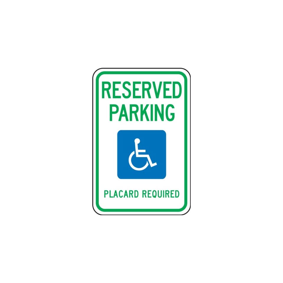 (HAWAII) RESERVED PARKING PLACARD REQUIRED (W/GRPAHIC) Sign 18 x 12 .080 Reflective Aluminum   ADA Parking Signs