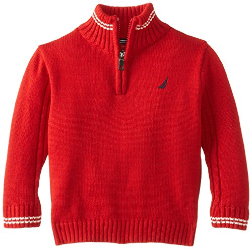 Nautica Baby-Boys Infant Long Sleeve Solid Sweater, Samba, 18 Months front-1016947