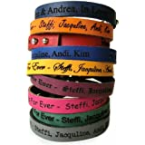 AREA17® Kinder Lederarmband 1cm breit - Inklusive Wunsch Gravur