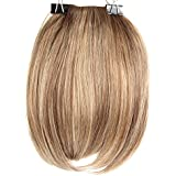 Yesurprise Girls Black Blonde Full Bangs Fringe Clip in Synthetic Hair Piece Extensions Wigs