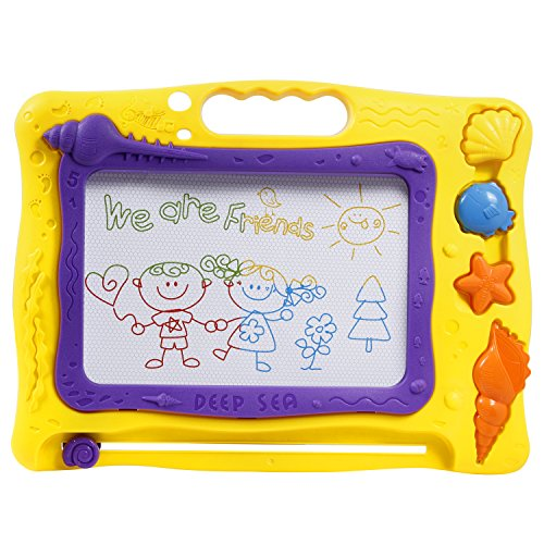 tonor-colorful-magna-doodle-magnetic-drawing-board-for-children-with-3-shape-stamps-deep-sea-theme-d