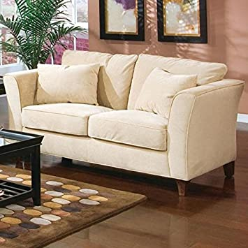 Coaster Home Furnishings Casual Loveseat, Cappuccino/Cream