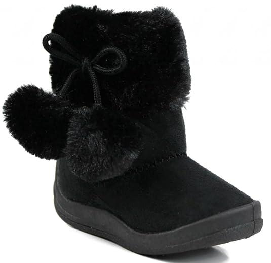 Kali-Footwear-Little-Girl-s-Bany-Flat-Pom-Pom-Ankle-Boot