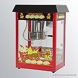 Popcornmaschine mit Robustes Rührwerk und vielen Edelstahl-Bauteilen