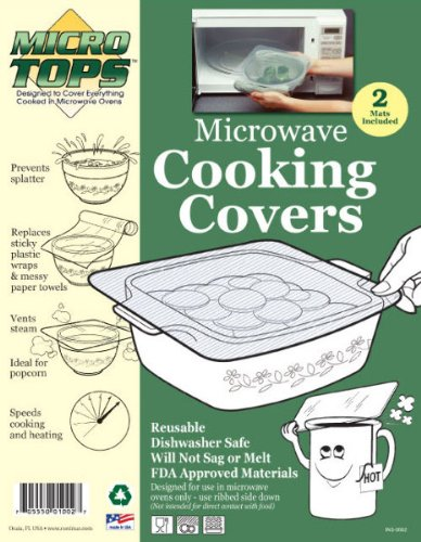 Micro-Tops 2 Pack Microwave Covers - Case Pack 72 Sku-Pas1121591