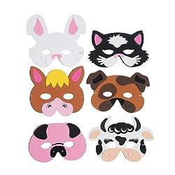 US Toy Company 7346 Farm Animal Foam Masks by Partyrama