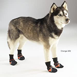 Guardian Gear Oxford Dog Boots, 3X-Small, 1-1/2-Inch, Orange