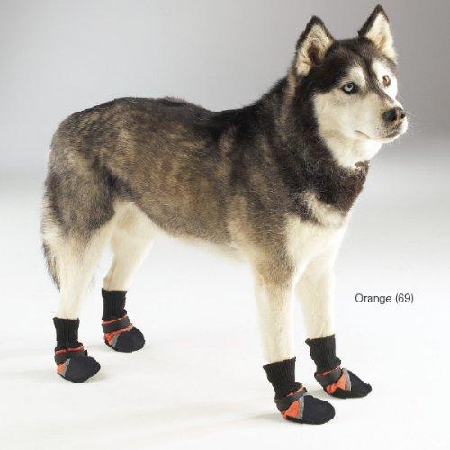 Guardian Gear Oxford Dog Boots, X-Large, 4-3/4-Inch, Orange