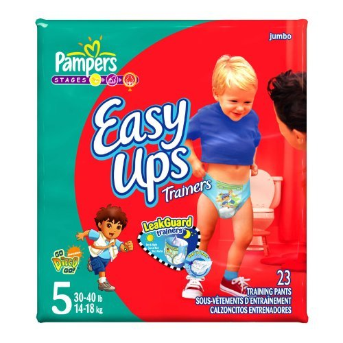 Pampers Easy Ups Diapers, Boy, Size 5, 23-Count - 1