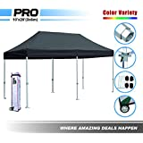Eurmax 10 X 20 Easy Pop up Canopy Carport Wedding Party Tent with Roller Bag