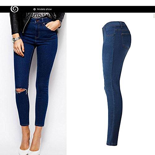 Jeans,WINWINTOM Donna Denim Skinny Stretch Matita Pantaloni Sottili Pantaloni Lunghi (Small)