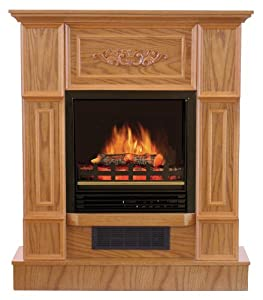 Quality Craft Mm624 32aaco Electric Fireplace Heater With 750 1500 Watt Adjustable Temperature