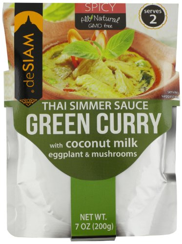 deSIAM Thai Simmer Sauce, Green Curry, 7 Ounce (Yellow Curry Simmer Sauce compare prices)