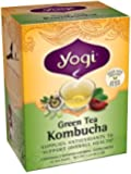 Yogi Kombucha Green Tea, 16 Tea Bags,1.12oz (Pack of 6)