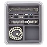 Neatnix Jewelry Stax Rings and Things Organizer, Pearl Grey