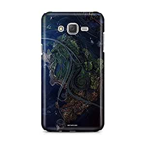 Motivatebox - Samsung Galaxy J1 2016 edition Back Cover - World Connects 2 Polycarbonate 3D Hard case protective back cover. Premium Quality designer Printed 3D Matte finish hard case back cover.