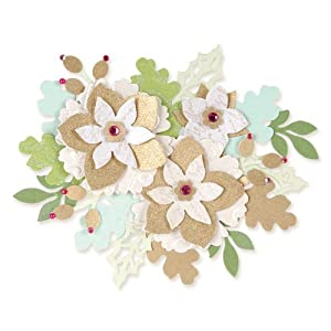 Fustella decorativa fiori e foglie big shot sizzix carta for Fiori di cartoncino