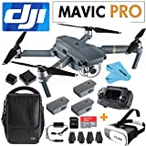 DJI Mavic Pro Collapsible Quadcopter: Includes SanDisk 64GB MicroSD Card+3D VR BOX+2 Intelligent Flight Batteries+Shoudler Bag+Cleaning Cloth