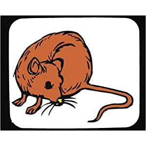 Decorated Mouse Pad with Europe, mouse, rodent, rat, animal, Norway