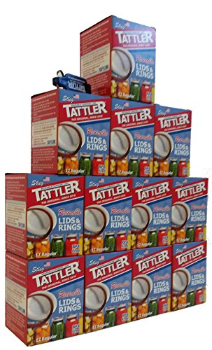 Tattler Reusable Regular Canning Lids and Rubber Rings 12 of 12 Pack