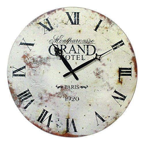 Stonebriar Grand Hotel Round MDF Wall Clock, 16-Inch