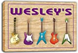 scqp1-0175 WESLEY'S Guitar Weapon Band Music Room Stretched Canvas Print Sign