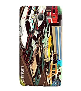 Omnam Car Parking Effect Printed Designer Back Cover Case For Samsung Galaxy On 7