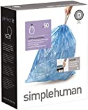 simplehuman - Code D, Custom Fit Recycling Bin Liners, 50 Pack - 20 Litre