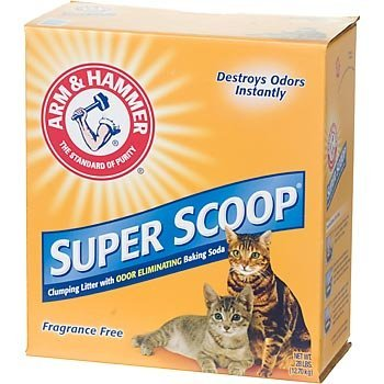 Arm and Hammer Super Scoop Clumping Cat Litter, Unscented, 28 Pound Box
