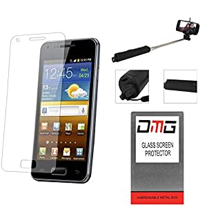 DMG Pack of 4 Tempered Glass for SAMSUNG GALAXY NOTE 3 + Wireless Bluetooth Selfie Stick with Image Zoom