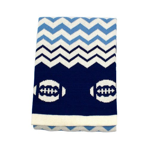 Koala Baby Cotton Jacquard Knit Blanket - Footballs - 1