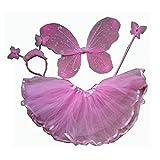 キッズハロウィンガールズ妖精チョウチョなりきりコスチューム女の子(ピンク)