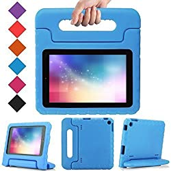 BMOUO Kids Case for Amazon Fire HD 7 2014 - EVA ShockProof Case Light Weight Case Super Protection Cover Handle Stand Case for Kids Children for Amazon Fire HD 7 Inch 2014 Tablet, Blue