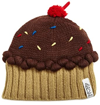 Neff Women's Cupcake Beanie Hat, Chocolate, One Size