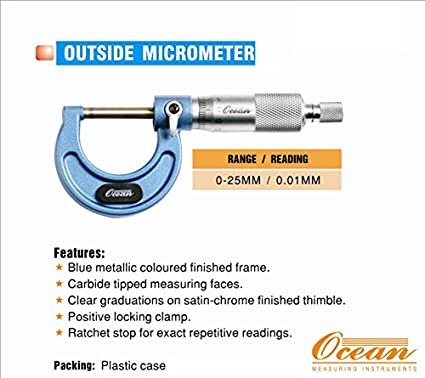 OCNOD25 Outside Micrometer (0-25mm)