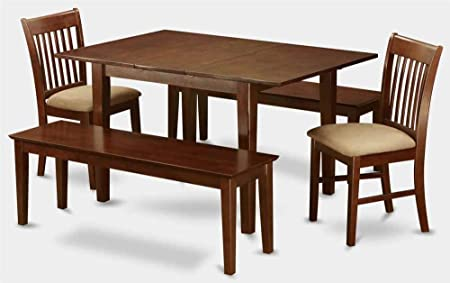 5-Pc Dining Set with 2 Upholstered Chairs