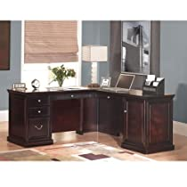 Big Sale Fulton Espresso Compact LDesk with Right Return Espresso