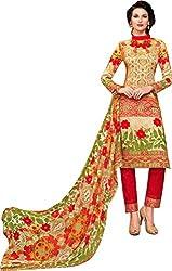 Sanvan Multicolor Unstitched Cotton Silk Salwar Suit
