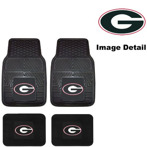 UGA University of Georgia Bulldogs Front & Rear Car Truck SUV Vinyl Car Floor Mats - 4PC (Georgia Car Mats compare prices)